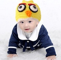 2012 new bird style Handmade knitted hat baby hat owl style hat  5color 5pcs/lot,Free shipping
