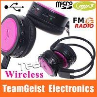 4pcs/lot Wireless Headphones Stereo earphones FM SD/TF Music MP3 Player wireless headsets SUPER-BASS Headphone Free shipping