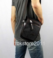 Free shipping,Hot Men's Canvas WaistBag Purse Shoulder Bags Pack Travel Work Casual Man Bag M019