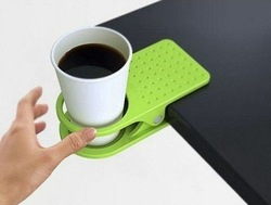 10pc Table Cup Lap Desk Cup Holder Folder colorful water cup holder Drink Clip stationery #08(China (Mainland))