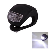 Waterproof Double White LED Light with Black Silicone for Bicycle