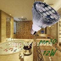 Free Shipping Hot !12W Par 30 LED Lamp Bulb E27 Spot Light Cool/ Pure / Warm White 100-240V Hot selling !