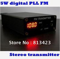 5W Stereo PLL Digital FM Transmitter \ Mini FM Radio Station\Fm broadcast