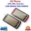 Freeshipping! Cell phone G2 with GPS Navigation+4.0'' Touch Screen+Dual Sim Dual Camera+TV WiFi