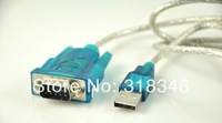 10pcs/Lot New USB to RS232 COM Port Serial PDA 9Pin DB9 Cable Adapter Wholesale