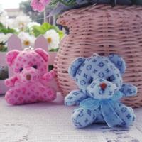 Wholesale 40pcs/Lot Begger Bear With Silk Scarf  Plush Pendant Toys Key/Phone/Jewelry/Bag Pendants Gifts
