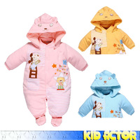 [Child Actor ]baby outerwear Baby Romper winter cotton padded children Childs jumpsuit windproof romper wadded jacket rabbitl