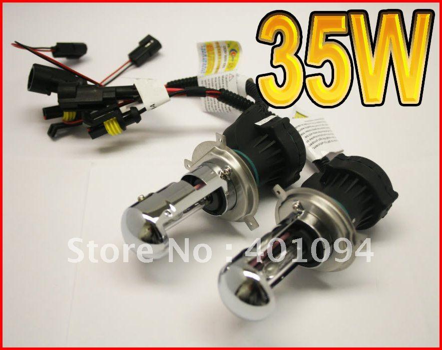 50 PAIRS 35W H4-3 9003 HB2 Bi-Xenon HID Xenon Replacement Bulbs High/Low Hi/Lo Genuine AC Digital Spare Light 4.3K 6K 8K 10K 12K(China (Mainland))