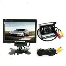 "7"" LCD MONITOR + 18 IR REARVIEW CAMERA+10M VIDEO CABLE CAR LORRY REVERSING(China (Mainland))"