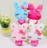 <40pcs/Lot> Cartoon Metoo Rabbit With Love Plush Pendants Toys For Wedding/Key/Phone/Bag/Christmas Gifts Retail