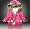 Free shipping.fur collar hooded sweater, winter women's hoodies women Jacket coat outwear.size:M,L,XL