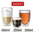 high quality 250ml Europe Style Double Wall Glass Coffee Cup Mug Tea cup glassware 2pcs/lot