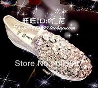 Handmade pearl flower multicolour three-dimensional rhinestone gem platform vintage canvas female elevator women's shoes
