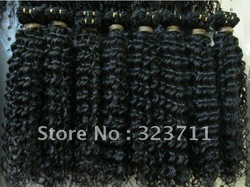 Discount for Beauty deep wave brazilian curly wave hair weaving for braiding(China (Mainland))