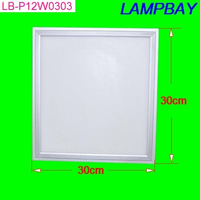 High lumens high quality LED panel light 12W 300mm x 300mm with hanged wires