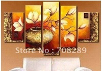 oil paintings on canvas red gold yellow home decoration Modern abstract Oil Painting wall art Natural scenery flowers