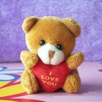 Wholesale 40pcs/Lot H=5.5cm Cartoon Tactic Bear I Love You Plush Pendants Toys/Dolls For Key/Phone/Christmas Gifts