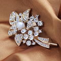 Min order is20$(Mixed order)Popular trendy brooch  Free shipping High quality flower  brooch promotional decoration