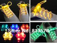 Free shipping by FEDEX ,DHL UPS.. 100pcs/lot(50 Pairs) LED flashing shining shoelace Best quality