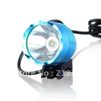 Shop Parcel Free shipping XML-T6 3-Mode 930-Lumen White LED Bike Light with Battery Pack Set (blue)