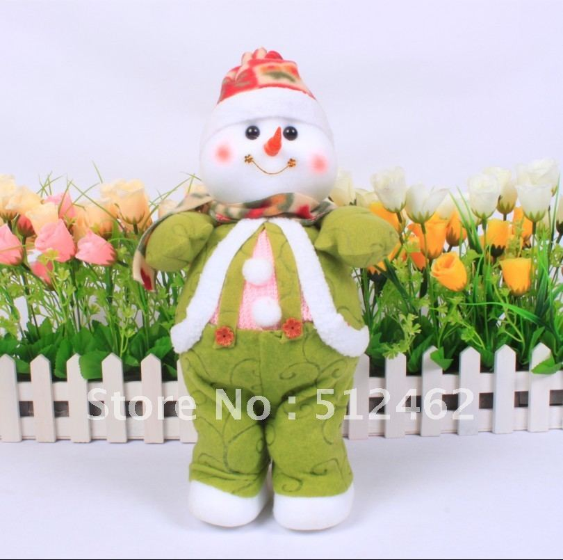 Christmas snowman 37cm Xmas decoration craft items for cheap sale(China (Mainland))
