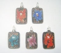 Free Shipping 10pcs/lot Multicolor Murano Lampwork Glass Pendants For DIY Craft Jewelry PG16