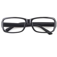 New Unisex Fashion Black Frame Eyeglasses Glasses Without Lens