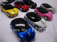 3D 5pc 2.4G Wire 1200dpi Optical Car Mouse Mice USB For PC Notebook Laptop