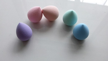 Free Shipping, 60*45 Pro Beauty Makeup Sponge Blender Flawless Smooth Shaped Water Droplets latex Puff , 50pcs/lot