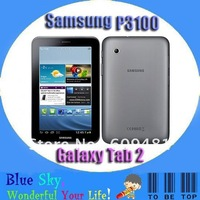 Hot sale Original P3100 Samsung Galaxy Tab 2 7.0 P3100 Tablet 3G Android phone 3.15MP camera 8G internal memory 1G RAM