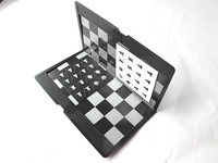 10X Mini Magnetic Portable Wallet Traditional Chessmen Chess Set