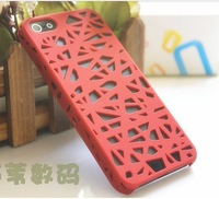 Free Shipping Crack Pattern bird Net Cutout Case Cover For iPhone 5