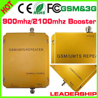 Wholesale GSM/WCDMA 900mhz/2100mhz 3G cell phone booster dual band GSM 900mhz WCDMA UMTS 2100mhz 3G mobile phone repeaters
