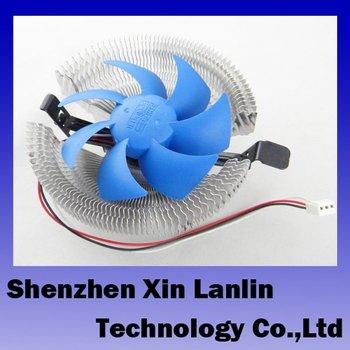 free shipping Aluminum DC CPU Cooling Fan Cooler Heatsink For Intel CPU LGA775 Socket 2pcs/lot #6421