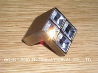 L25xW25xH22mm bronze-coloured Free shipping  K9 crystal glass knob/drawer knob
