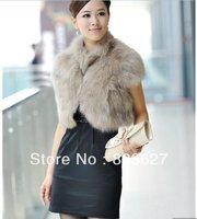 2014 New Clothing Women Apparel & Accessories Women's Clothing  Faux Fur  Coats & Jackets  Faux Fur  shawl Fur & Faux Fur vest
