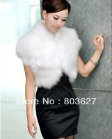 Neonatal Women Vogue shawl Coats Women's Clothing  Coats & Jackets  Fur & Faux Fur vest shawl white/Black/Khaki