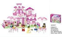 Christmas gift Enlighten Child B0150 diy Educational Romantic Restaurant SLUBAN building block sets,children toys free Shipping