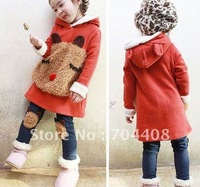 Free shipping 4sets/lot 2012 fashion Winter Warm Boy's and girl's Cotton suit set (outerwear + pants)