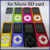 10pcs/lot 4th gen mp3 mp4 music palyer support TF card/ sd card without accessories