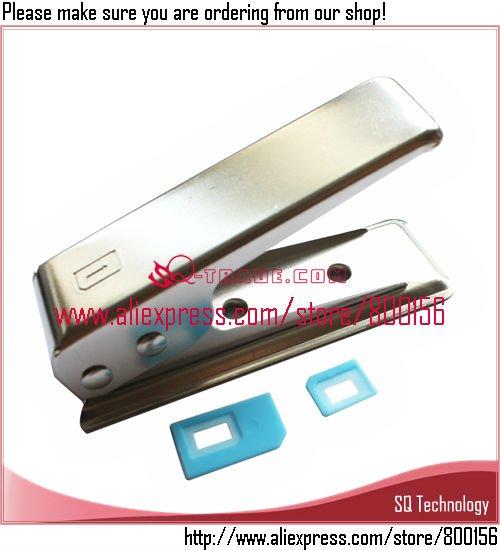 Micro Sim to Nano Sim Card Cutter + 2pcs Adapter for iPhone 5 5G free shipping(China (Mainland))