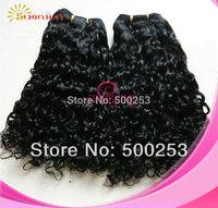 Sunnymay Natural Color Natural Curly Malaysian Virgin Human Hair Extension