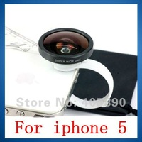 Super Wide 0.4X Mobile Phone Lens for iphone 5 with Circle Clip
