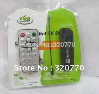 Wholesale 10Pcs/lot RTL2832U+R820T SH3439 Mini USB DVB-T+DAB+Support FM MPEG-2 MPEG-4 H.264 Digital Sticker Receiver HD TV Tuner