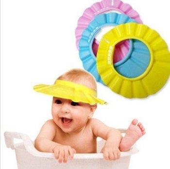 Baby Child Kid Shampoo Bath Shower Wash Hair Shield Hat Cap Blue PINK YELLOW