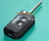 Keyless Entry 2 Buttons New Uncut Flip Folding Remote Key Shell Case Fob for Nissan Micra K12 Note Navara Qashqai Free Shipping