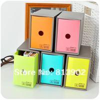 Free shipping 5pcs/lot era high quality SIMPLE candy color desktop storage box resin finishing box