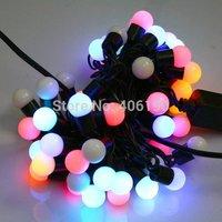 New 10M 100LED Ball String Fairy Light 110V/220V Bright Light Effect Wedding Holiday Decoration Light