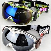 2014 17colors motocross ski goggles anti-ultraviolet& fog skiing glasses dual layer Men Women snowmobile snow Snowboard googles