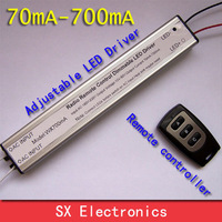 Radio Remote Control Dimmable LED Driver, Constant Current 70mA-700mA 42W LED Power Supply